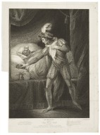 ...Second part of King Henry the Fourth, act IV, scene IV [i.e. V] the palace at Westminster, King Henry asleep... [graphic] / painted by Josh. Boydell ; engraved by Robt. Thew.