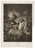 Third part of King Henry the Sixth, act I, scene III, a field of battle, betwixt Sandal Castle and Wakefield ... [graphic] / painted by J. Northcote ; engraved by C.G. Playter ; finished by Thos. Ryder.