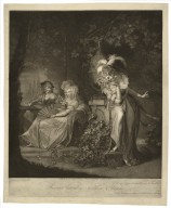 Beatrice listening to Hero, & Ursula ... Much ado about nothing, act 3rd, sc. 1st [graphic] / painted by H. Fuseli R.A. ; engraved by John Jones.