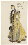 Two costume sketches: (1) Merchant of Venice, Portia's clock in the casket scene ; (2) Much ado about nothing, Beatrice in the last scene [graphic] / PA.
