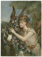 [Midsummer night's dream, IV, 1, Titania adorns Bottom with flowers] [graphic] / [Alexandre Bida].