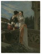 [Romeo and Juliet, II, 2, balcony scene] [graphic] / [Alexandre Bida].
