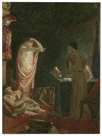 [Julius Caesar, IV, 3, The ghost of Caesar with Brutus] [graphic] / [Alexandre Bida].