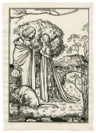 [Full-page illustration of Ferdinand and Miranda from act 1, scene 2 of the Tempest] [graphic] / [Robert Anning Bell].