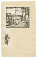 [Illustration and illuminated initial letter for first page to act 2, scene 1 of Bell's edition of The tempest] [graphic] / R.A. Bell.