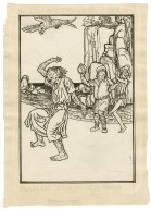 [Design for full-page illustration to The tempest, act 2, scene 2] [graphic] / [Robert Anning Bell].