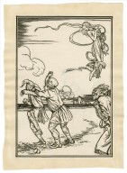 [Full-page illustration to act 3, scene 2 of The tempest] [graphic] / [Robert Anning Bell].