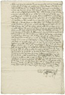 Letter from Ralph Adderley I to Sir Nicholas Bagnal, marshal (of army) in Ireland