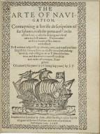 [Breve compendio de la sphera y de la arte de navegar. English] The arte of nauigation. ... and translated into English by Richard Eden ...