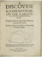 A discourse mathematical on the variation of the magneticall needle.