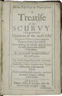 Morbus polyrhizos & polymorphæus. A treatise of the scurvy ...