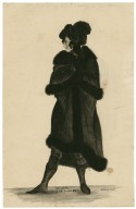 Hamlet, act V, scene IV [person in black plumed hat and fur-trimmed coat] [graphic] / A. Folwell pinxt.