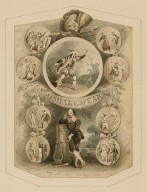 Portrait of Shakespeare, surrounded by characters from his plays [graphic] / William Heath.