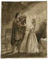 Hamlet, III, 1, Hamlet and Ophelia [graphic] / [Henry Stacy Marks].