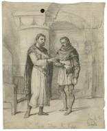 King John, IV, 2, King John and Hubert [graphic] / Henry Stacy Marks.