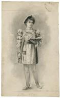 Miss Bessie Hatton [as Hamlet] [graphic] / [Bernard Partridge].