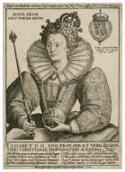 Elisabet D.G. Ang. Fran. Hib. et verg. Regina fidei Christianae propugnatrix acerrima [graphic] / honoris ipsius causa aeri incidebat Crispiannus Passaeus Belga, 1592.