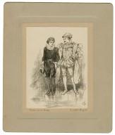 Viola and the duke, Twelfth night [graphic] / J.P., '98.