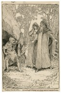 Prospero, Miranda, Caliban - You have taught me language and my profit on't is, I know how to curse [graphic] / [Louis Rhead].