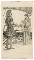 Pericles, Prince of Tyre. Here is all that is left alive of your dead queen - a little daughter [graphic] / [Louis Rhead].