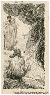 Timon of Athens, Flavius stood speechless, wrapped up in horror to see the [...] naked as he was born, living in the manner of a beast [graphic] / [Louis Rhead].