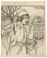 Moon [i.e. Robin Starveling, the tailor, in the play of Pyramus and Thisbe] [graphic] / [Louis Rhead].