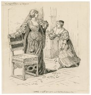 Two gentlemen of Verona, Julia - get you gone and let the papers lie [graphic] / [Louis Rhead].