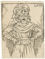 Lion [i.e. Snug, the joiner, in the play of Pyramus and Thisbe] [graphic] / [Louis Rhead].