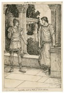 Comedy of errors. My mistress sent me to bid you come to dinner [graphic] / [Louis Rhead].