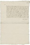 Letter from Robert Broughton to Walter Bagot