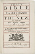 Bible. English. 1701. Authorized version. The Holy Bible.