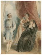 Twelfth night, III, 4, Olivia, Maria and Malvolio, Olivia's garden [graphic] / Thomas Stothard..