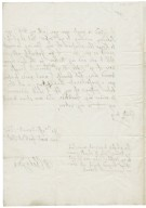 Letter from Walter Chetwynd, Grendon, to Sir Edward Bagot