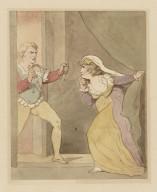 A tragic scene [probably from Shakespeare's Macbeth, II, 1] [graphic] / [Thomas Rowlandson].