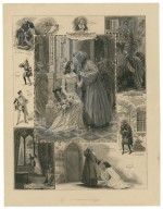 [Grouped vignettes depicting characters and scenes from Romeo and Juliet as performed at the Imperial Theatre in 1905] [graphic] / S. Begg.