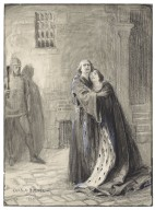 [King Richard II, V, 1, as performed at His Majesty's Theatre, Herbert Beerbohm Tree (King Richard), Lily Brayton (Queen)] [graphic] / Chas. A. Buchel.