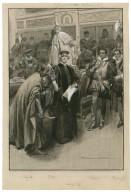 Merchant of Venice, IV, 1 [as performed at the Garrick, Arthur Bourchier (Shylock), Violet Vanbrugh (Portia), Jerrold Robertshaw (Antonio), Julian L'Estrange (Bassanio) and] Mr. Lawson Butt as the Prince of Morocco [graphic] / Max Cowper.