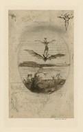 Ariel on a bat's back [graphic] / [George Cruikshank].