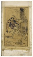 Petruchio throws the meat about the floor [graphic] / A. Rackham, 1899 & 1909.