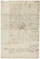 Letter from Richard Ensore, Middle Temple, to Richard Bagot