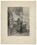 """Shylock. """"I am bid forth to supper, Jessica: there are my keys"""", Merchant of Venice, act II, scene V [graphic] / F.O.C. Darley, 1884."""