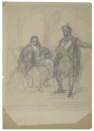 Othello relating adventures to Desdemona & Father [graphic] / [Felix Darley].