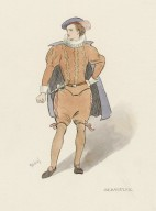 [Costume sketches for various characters from: Merchant of Venice, Merry wives of Windsor, The tempest, and Twelfth night] [graphic] / Gabriel.