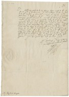 Letter from Robert Devereux, Earl of Essex, the Court, to Richard Bagot