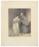 Romeo and Juliet, act IV, scene I, Juliet [Miss F. Kemble] & Friar Laurence ... [graphic] / [John Hayter].