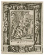 Laudaui magis mortuos quam viuentes, Eccle. 4 [graphic] / H.B. i. [center plate] ; W.H. [center plate] ; Ab. a Diepenbecke inu. [border] ; W. Hollar fecit 1651 [border].