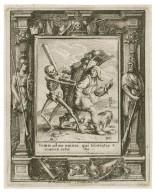 Venite ad me omnes qui laboratis & onerati estis, Matt. 11 [graphic] / HB i. [center plate] ; WH [center plate] ; Ab. a Diepenbecke inu. [border] ; W. Hollar fecit 1651 [border].