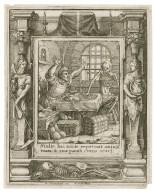 Stulte hac nocte repetunt anima[m] tuam & quae parasti cuius erunt, Luc. 12 [graphic] / H.B. i. [center plate] ; W.H. [center plate] ; Ab. a Diepenbecke inu. [border] ; W. Hollar fecit [border].