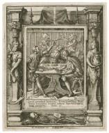 Quid prodest homini si vniuersum muntum lucretur animae autem suae detrimentum patiatur, Matth. 16 [graphic] / H.B. i. [center plate] ; W.H. [center plate] ; Ab. a Diepenbecke inu. [border] ; W. Hollar fecit [border].