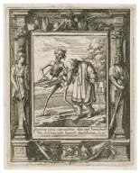Spiritus meus attenuabitur, dies mei breuiabuntur & solum mihi superest sepulchrum, Iob. 17 [graphic] / H.B. i. [center plate] ; W.H. [center plate] ; Ab. a Diepenbecke inu. [border] ; W. Hollar fecit 1651 [border].
